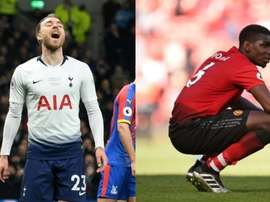 Eriksen has refused to join Man U so Pogba will stay at Old Trafford. Montaje/AFP
