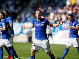 Christian Fernández no puede estar más orgulloso de haber renovado con el Oviedo. RealOviedo