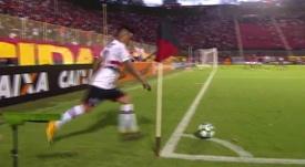 Gol olímpico de Christian Cueva en Brasil. Twitter