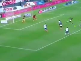 Chumacero anotó el 1-0 para Puebla. Captura/FutAzteca