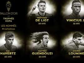 Nomeados ao Troféu Kopa. FranceFootball