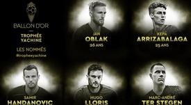 Les 10 nommés pour le Trophée Yachine. Goal/FranceFootball