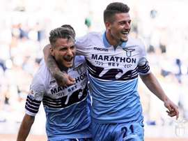 Joie absolue pour les supporteurs de la Lazio. Lazio