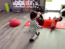 O rigoroso personal trainer de Messi. Instagram/LeoMessi