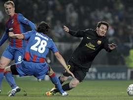 Messi marcou três gols em sua única visita a República Tcheca. EFE