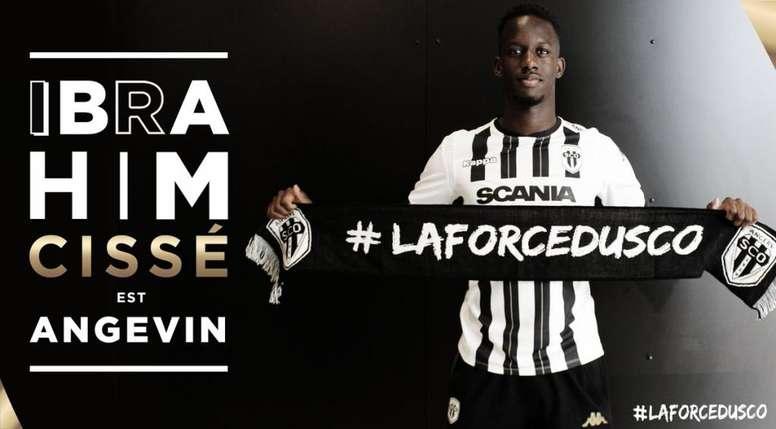 Ibrahim Cissé, nuevo jugador del Angers. Twitter/Angers