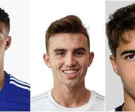 Clarke-Slater, del Chelsea; Borja Mayoral, del Real Madrid; y Samy Bourard, del Anderlecht. UEFA/BeSoccer