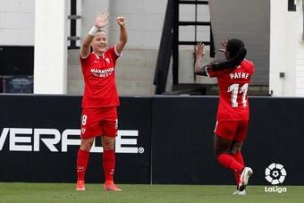 Claudia Pina y Toni Payne anotaron dos de los tres tantos del Sevilla. LaLiga