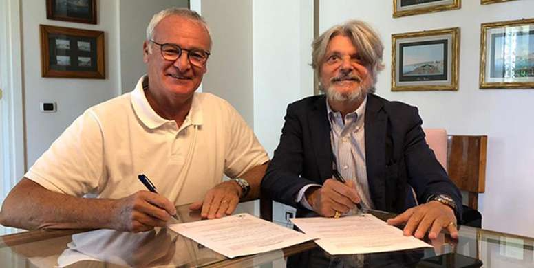 Ranieri, nuevo entrenador de la Samp. Sampdoria