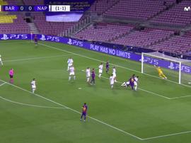 Lenglet porta in vantaggio il Barcellona. MovistarLigadeCampeones
