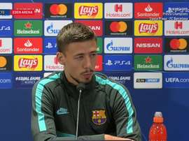 Lenglet spoke about Slavia Prague. Captura/BarcaTV