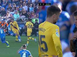 Lenglet was once again dismissed by Gil Manzano.Capturas/Movistar