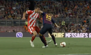 Clement Lenglet was sent off for Barcelona for a high elbow. Captura/BeInSports