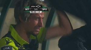 Coentrao acabó llorando en la Europa League. Captura/Sporttv