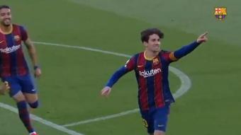 El Barça B culmina un fin de semana de lujo para los 'culés'. Captura/BarçaTV