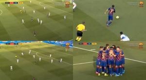 No todos los días se ve un golazo de este calibre. Twitter/FCBarcelonaB