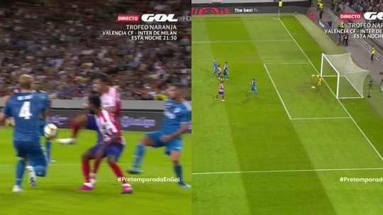 Joao Felix marque le premier, et le deuxième pour l'Atlético. GOL