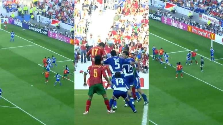 Este testarazo fue el primero de muchos. UEFA