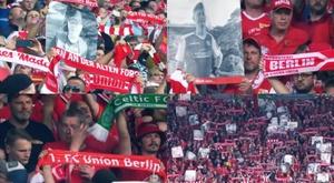 El Union Berlin se acordó de los que ya no están con nosotros. Twitter/Bundesliga_EN