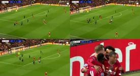 Mané a marqué un superbe but mais ne l'a pas célébré. BTSport/FOXSports