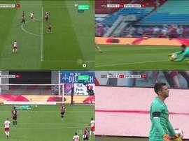 Jarstein puso la victoria en bandeja al RB Leipzig con esta mala parada. Movistar+