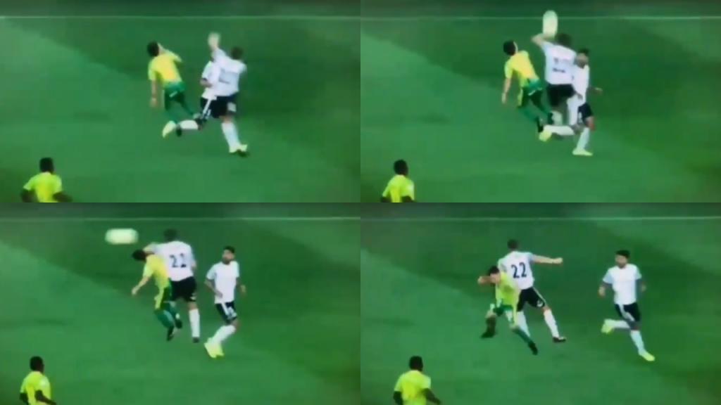 Kristian Álvarez lesionó de gravedad a un rival tras descomunal codazo