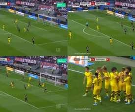 Witsel culminó una jugada de acoso y derribo del Borussia. Movistar+
