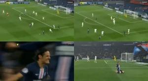 Cavani ha segnato il goal del pareggio. Canal+