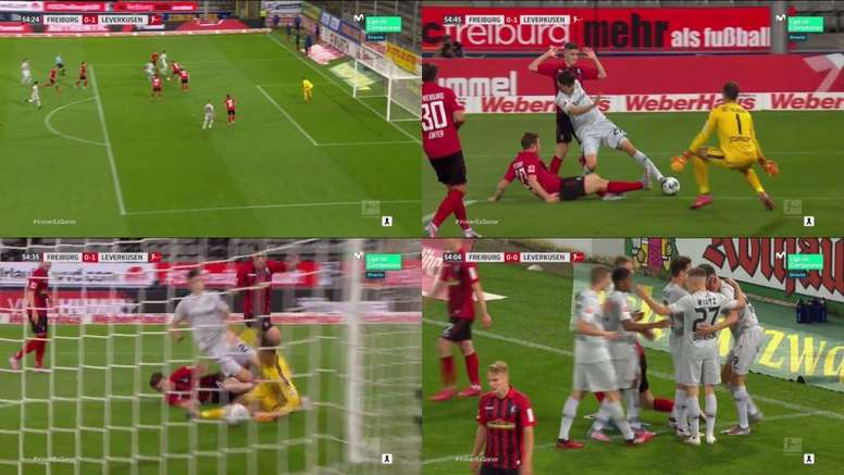 Havertz scored for Leverkusen, but got injured in the process. Movistar+