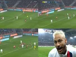 Perla di Neymar contro il Lille.ESPN