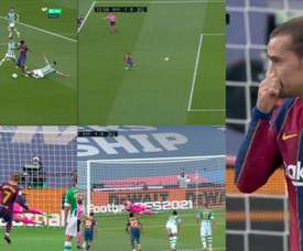 Griezmann has missed yet another penalty. Screenshot/Movistar+