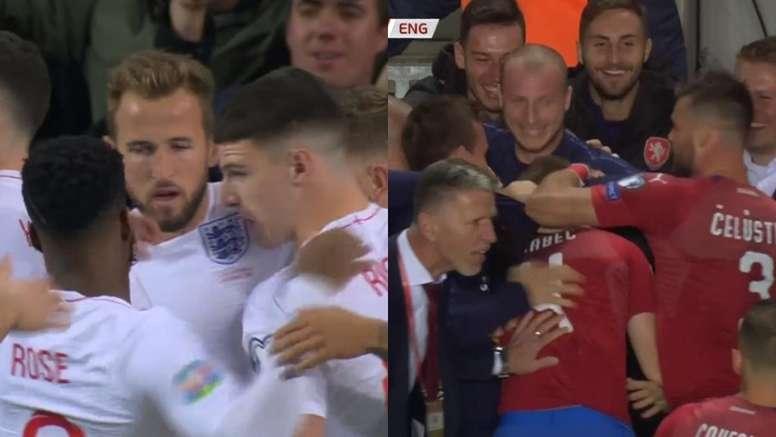 Kane convirtió el penalti a Sterling, Brabec igualó la contienda. ZVoetball