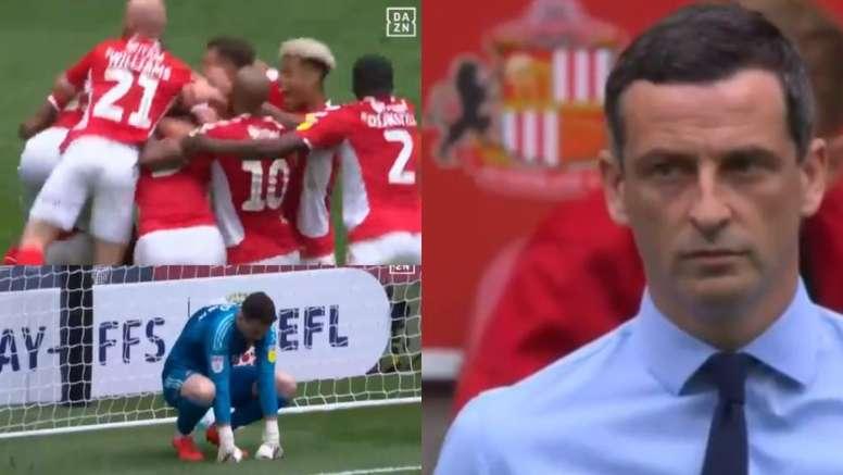 El Sunderland cayó con un discutido gol en el 94'. DAZN