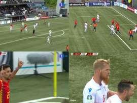 Navas hizo el 0-2, pero entre Faero y Olsen Islas Feroe recortó distancias. TVE