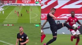 Werner le hizo tres de los cinco del RB Leipzig al Mainz 05. Movistar+