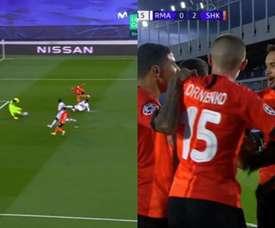 Madrid went 3-0 down against Shakhtar. Screenshot/Movistar+