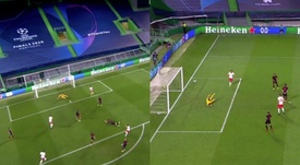 Atletico were knocked out after a deflected strike. Captura/Movistar+