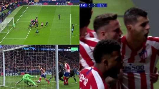 Saúl estava mais ligado que todo mundo para colocar o Atlético na frente. Movistar+