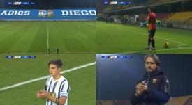 Il commovente omaggio di Benevento-Juve a Maradona. ESPN