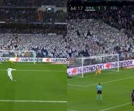 Hazard obtient un pénalty que transforme Sergio Ramos. Movistar+