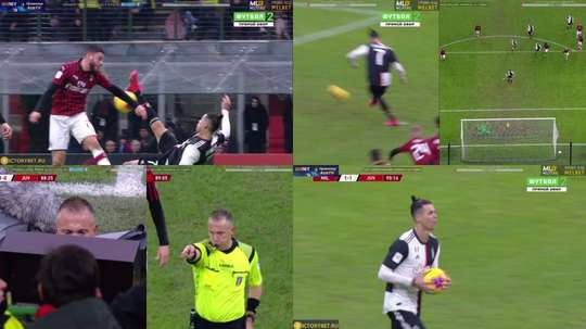Ronaldo scored a penalty. Futbol1