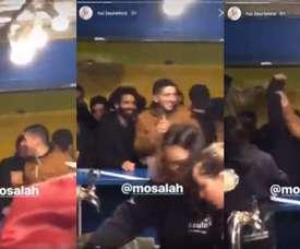 Um sósia de Salah festejando no Porto. Instagram/rui.lourenco