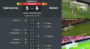 El Valenciennes-Béziers será difícil de olvidar. BeSoccer/BeINSports