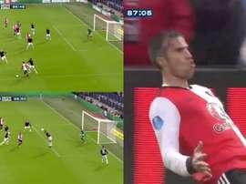Robin Van Persie rescató al Feyenoord. Twitter/Goal