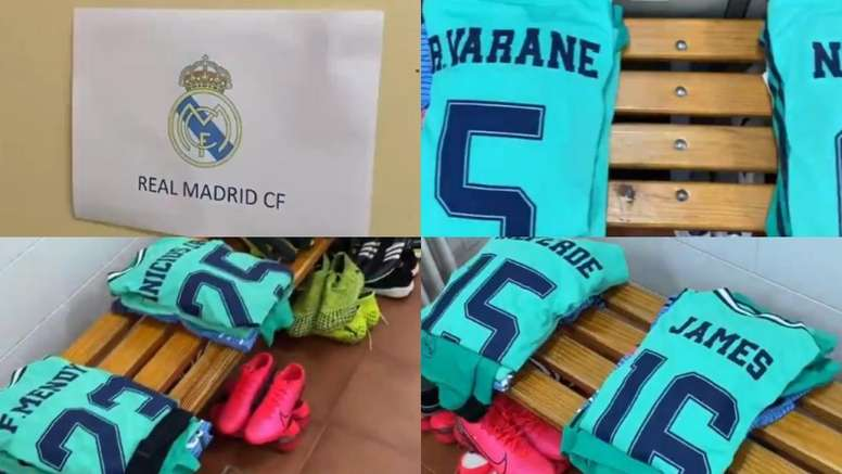 Le voyage dans le passé du Real Madrid dans le vestiaire visiteur, Twitter/almadrid