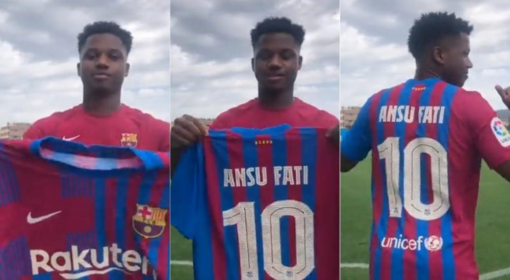 Ansu Fati è il numero 10 del Barcellona. FCBarcelona