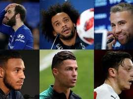 Higuaín, Marcelo, Otamendi, Tolisso, CR7 y Özil se devaluaron. EFE/AFP