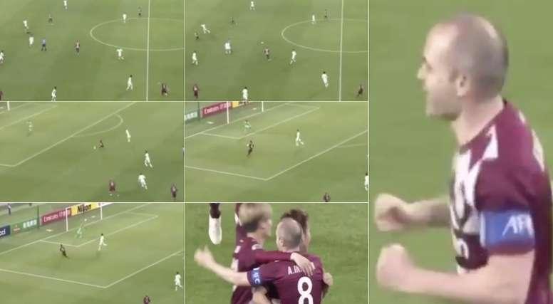 Iniesta teve mais uma boa atuação pelo time japonês. Capturas/FOXSports