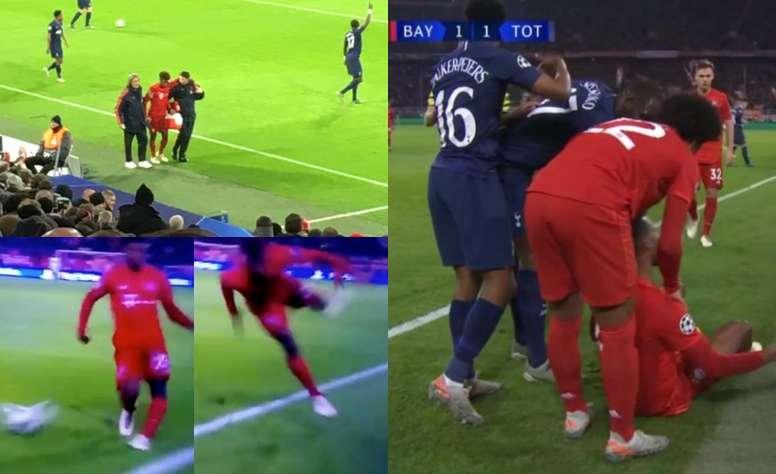 Coman sort sur blessure avec le Bayern Munich. afp
