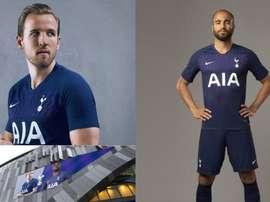 El Tottenham no ha innovado con sus camisetas esta temporada. Twitter/SpursOfficial